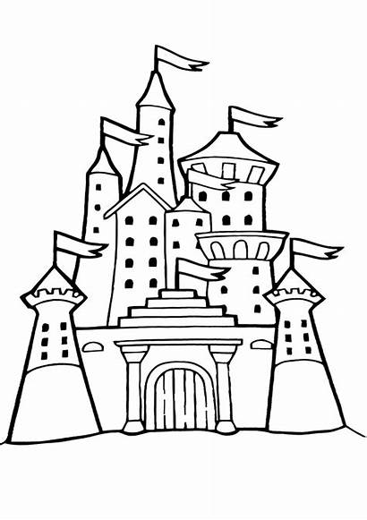 Palace Coloring Pages Building