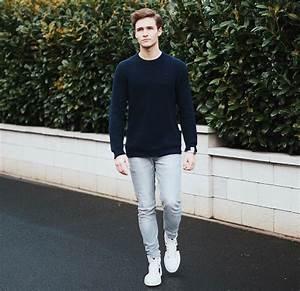 Marvin Sheckler - Old Harry Sweater Lee Jeans Gucci Sneaker - Neighbourhood | LOOKBOOK