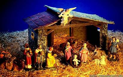 Nativity Christmas Scene Wallpapers Backgrounds Resolution Res