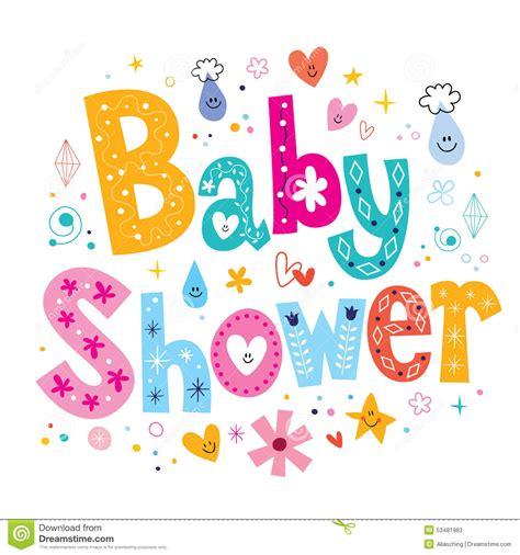 Baby Shower Stock Vector Illustration Of Card, Font