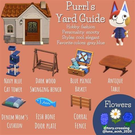 Purrl's yard guide #animalcrossing # ...