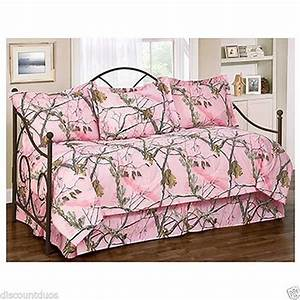 5pc, Realtree, Ap, Pink, Daybed, Ensemble, Daybed, Cover, Set