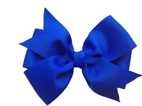 4 Inch Royal Blue Hair Bow Blue Bow Royal Blue Bow 4 Inch