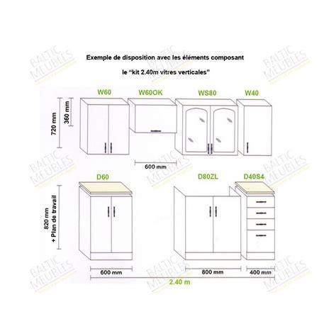 meubles cuisine en kit hauteur meuble cuisine cuisine en image