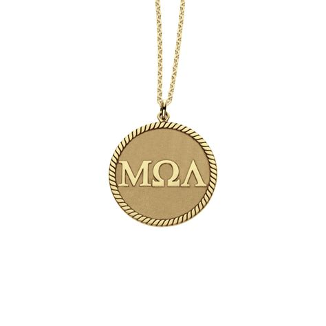 greek letters disc pendant mm personalized jewelry