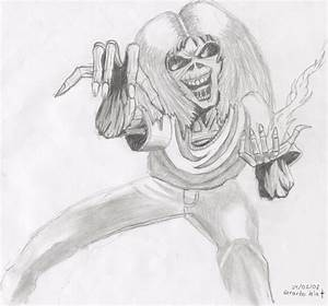 How to draw iron maiden
