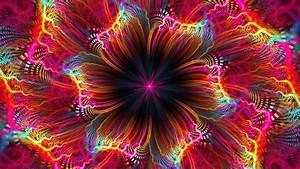 Download, Wallpaper, 1920x1080, Fractal, Flower, Colorful