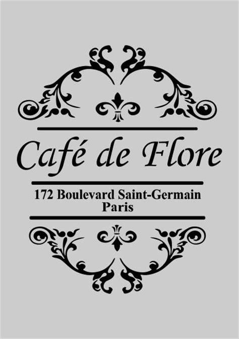 americana decor stencil | French style Shabby Chic cafe de