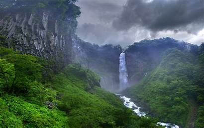 Nature Forest Waterfall Landscape River Trees Japan