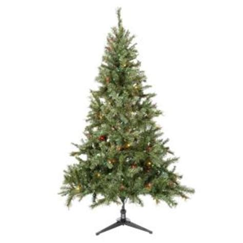 home holiday 6 5 ft pre lit aster pine christmas tree