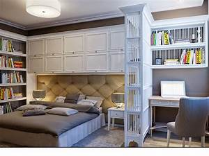 Bedroom, With, Storage, Ideas