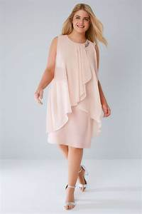 Blush pink layered front dress with detachable diamante for Robe longueur genou