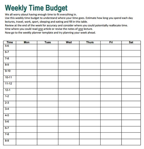 When you use a template for creating a budget, you will be less likely to forget about the important items that should be included in your project. FREE 10+ Weekly Budget in PDF | Google Docs | Google ...