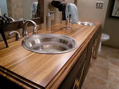 bathroom vanity countertops ideas bathroom countertop material options hgtv