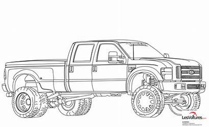Coloring Ford Truck Lifted Dually F350 Dodge