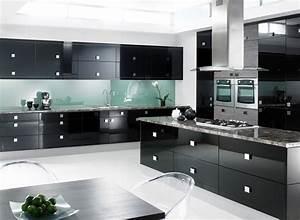 Modern Black Kitchen Cabinets, Modern kitchen designs