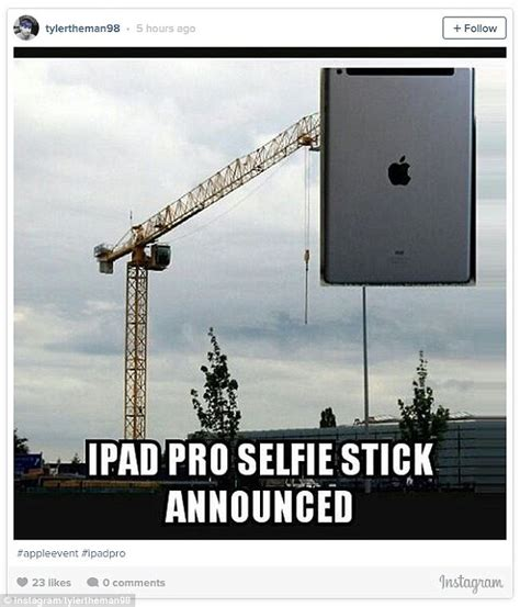 Ipad Meme - apple ipad pro and pencil sees fans create hilarious memes daily mail online