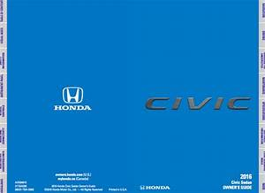 2016 Honda Civic Owner U0026 39 S Manual - Zofti