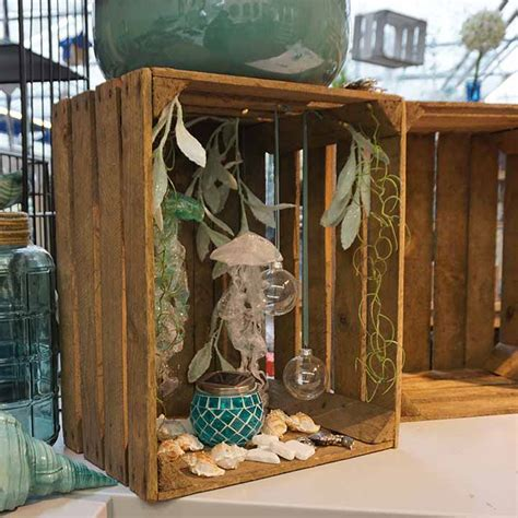 Dekorative Holzkisten  Das Dekoaquarium Gartencenter Mencke