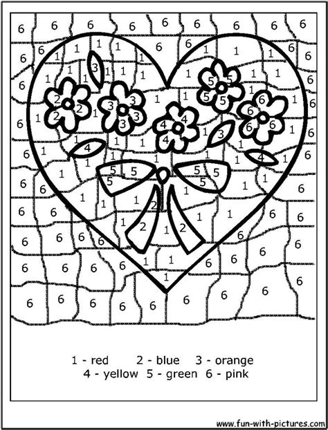 valentines day coloring pages color  code coloring home