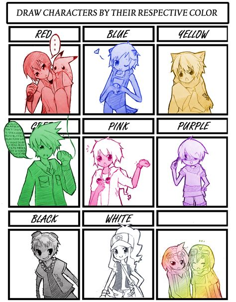 Colors Meme - color meme by pinwheelof on deviantart