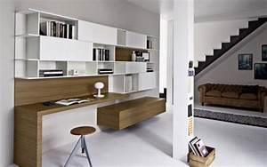 Meuble Mural Bureau Bureau Blanc Bois Lepolyglotte