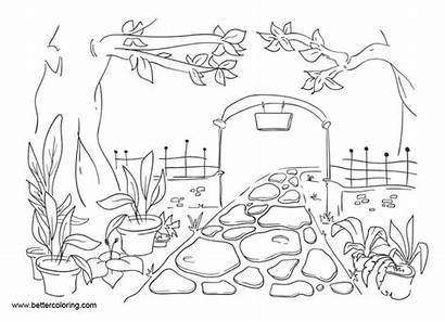 Garden Coloring Pages Printable Adults