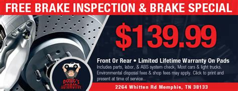 brake and l inspection doug 39 s auto repair your memphis tennessee auto repair