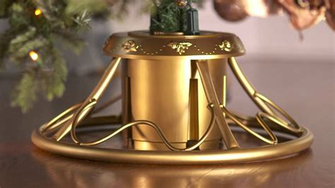 12 christmas tree stand golden rotating tree stand