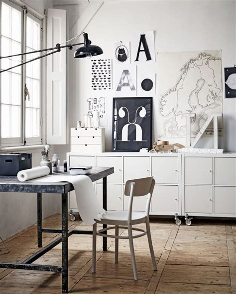 kallax bureau decordots living with children monochrome industrial