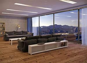 Fussboden Wohnzimmer Ideen : 35 wohnzimmer ideen zur gestaltung von fu boden wand ~ Lizthompson.info Haus und Dekorationen