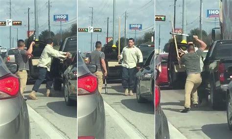 texas road rage drivers fight  traffic