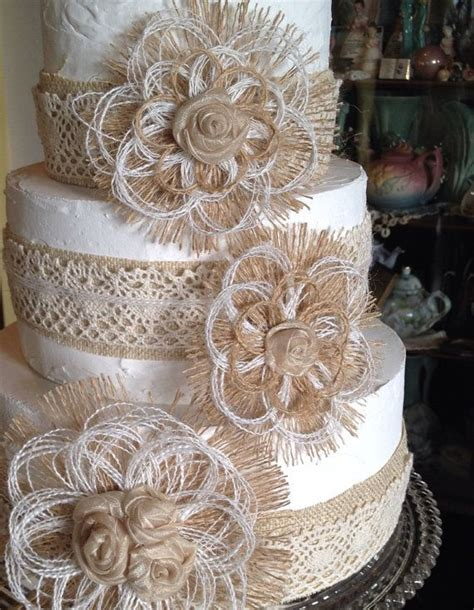 burlap flowers wedding ideas  pinterest