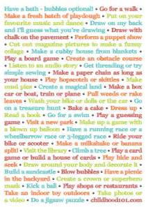 more things to do instead of turning on the tv and it 39 s printable childhood101