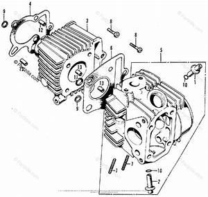 Honda Motorcycle 1976 Oem Parts Diagram For Cylinder