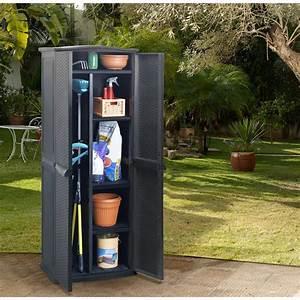 Armoire De Terrasse : armoire de jardin r sine keter rattan l70 h179 cm ~ Teatrodelosmanantiales.com Idées de Décoration