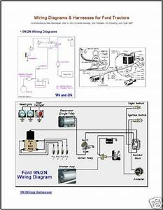 Ford Tractor 2n  Naa  8n And 9n Series Wiring Diagrams For Sale