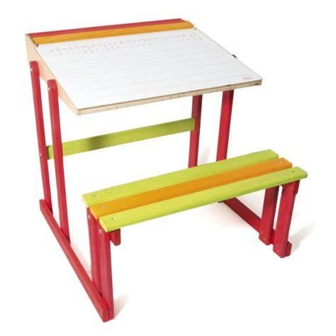 bureau ecolier bois bureau d 39 écolier en bois pupitre réversible jeux et