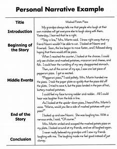 how to write a personal narrative essay for 4th 5th grade With process narrative template