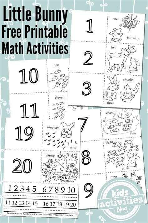 printable math worksheets little bunny free homeschool deals