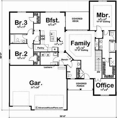 Plans Plan Story Craftsman Floor Advancedhouseplans Traditional
