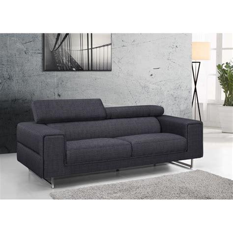 canapé tissu 3 places canapé droit design 3 places mario en tissu gris foncé