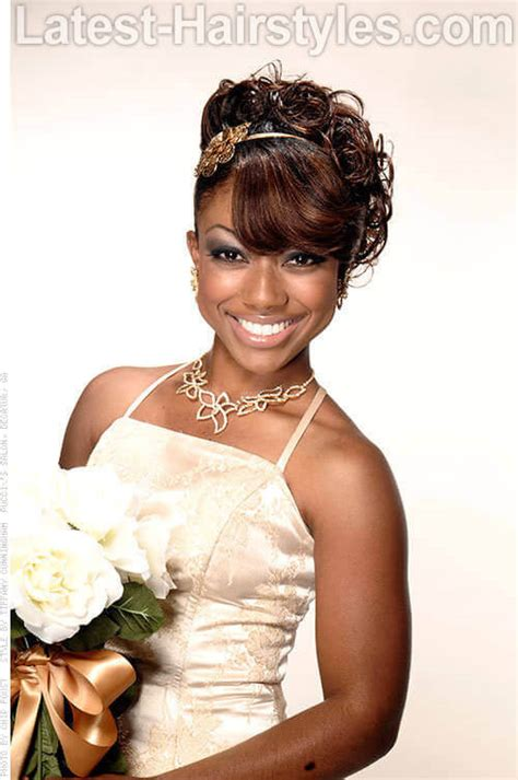 updo hairstyles for african american weddings 11 african american wedding hairstyles for the bride her