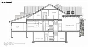 Partial Section Working Drawings Of Residential Kitchen