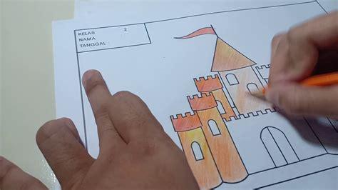 mewarnai istana dengan pensil warna