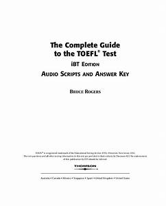 Pdf  The Complete Guide To The Toefl  U00ae Test Ibt Edition