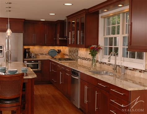 warm contemporary kitchen montgomery