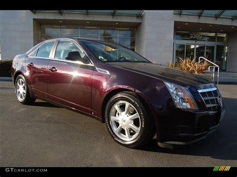 2009 Black Cherry Cadillac Cts Sedan #25415023