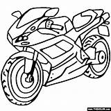 Coloring Ducati Sportbike Pages Motorcycle Thecolor sketch template