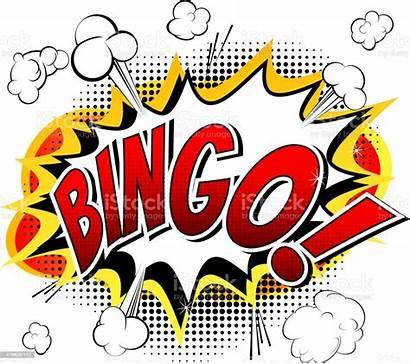 Bingo Word Comic Illustration Background Vector Blackboard